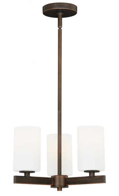 Glendale 3 Light Opal Mini Chandelier-H0122 by Vaxcel Lighting