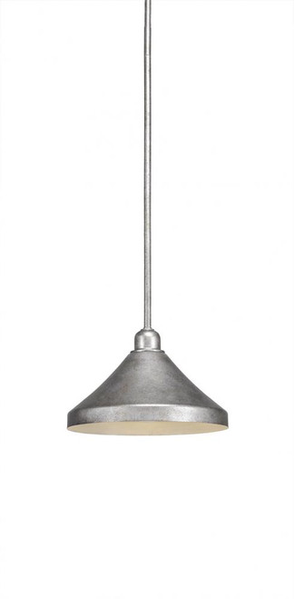 Vintage 1 Light Silver Mini-Pendant Light-281-AS-418 by Toltec Lighting