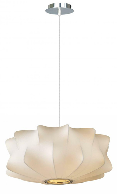 Chandeliers/Pendant Lights By Avenue Lighting MELROSE PL. WHITE FABRIC PENDANT LIKE HANGING FIXTURE Contemporary Modern  CHANDELIER HF2112