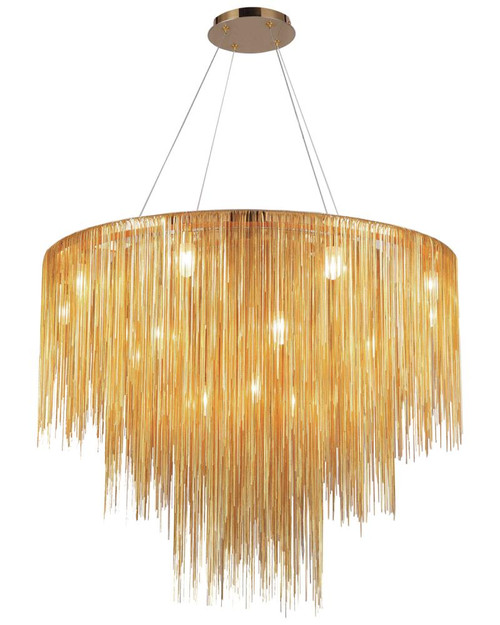 Chandeliers By Avenue Lighting FOUNTAIN Contemporary Pendant Light  CHANDELIER HF2222-GLD