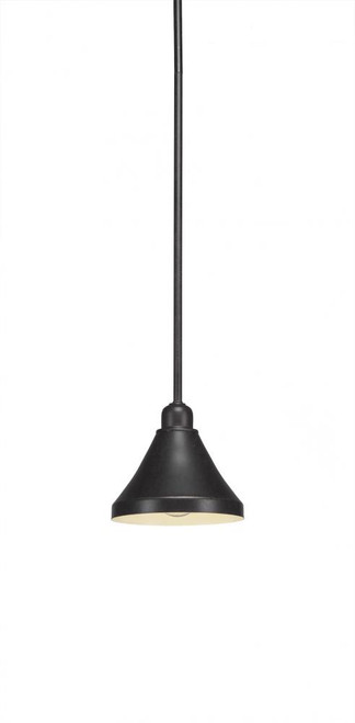 Vintage 1 Light Black Mini-Pendant Light-281-DG-410 by Toltec Lighting