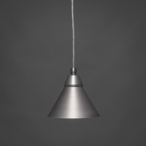 1 Light Silver Mini-Pendant Light-22-BN-421 by Toltec Lighting