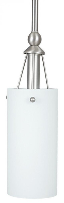 1 Light Silver Mini-Pendant Light-F9140-53 by Sunset Lighting