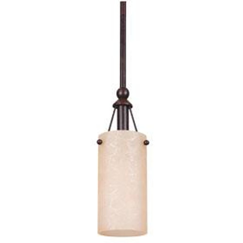 1 Light Silver Mini-Pendant Light-F9141-53 by Sunset Lighting