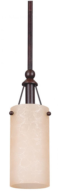 1 Light Bronze Mini-Pendant Light-F9140-62 by Sunset Lighting