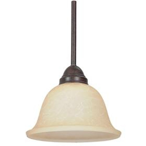 1 Light Bronze Mini-Pendant Light-F1018-62 by Sunset Lighting