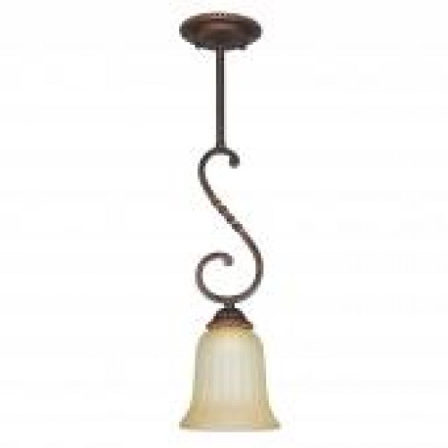 Graham 1 Light Brown Mini-Pendant Light-F5284-61 by Sunset Lighting