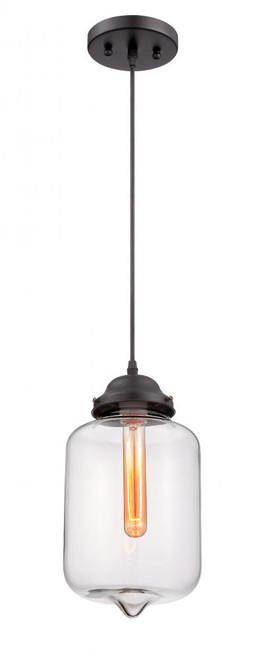 Kala 1 Light Black Mini-Pendant Light-F3592-31 by Sunset Lighting