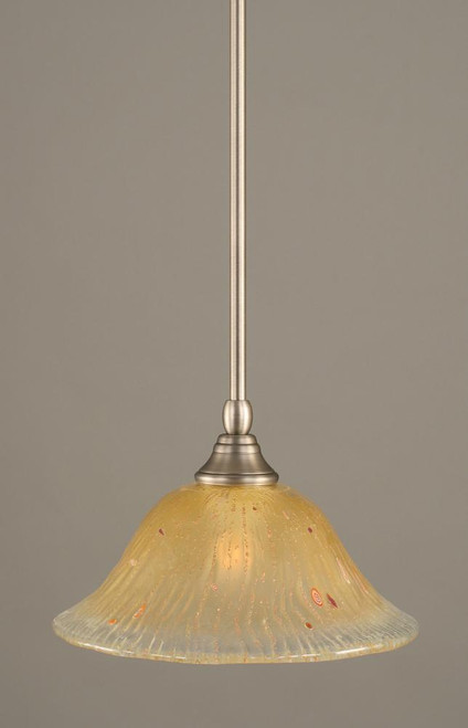 1 Light Amber Mini-Pendant Light-23-BN-730 by Toltec Lighting