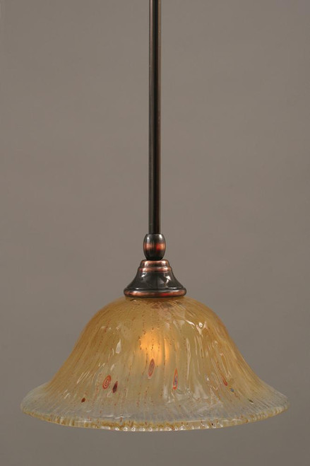 1 Light Amber Mini-Pendant Light-23-BC-730 by Toltec Lighting