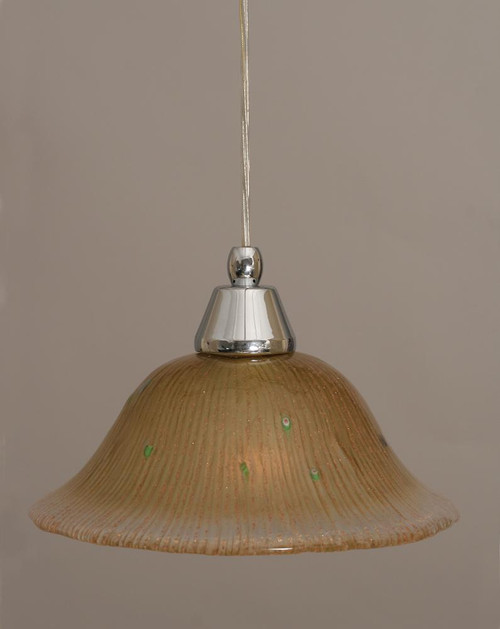 1 Light Amber Mini-Pendant Light-22-CH-730 by Toltec Lighting