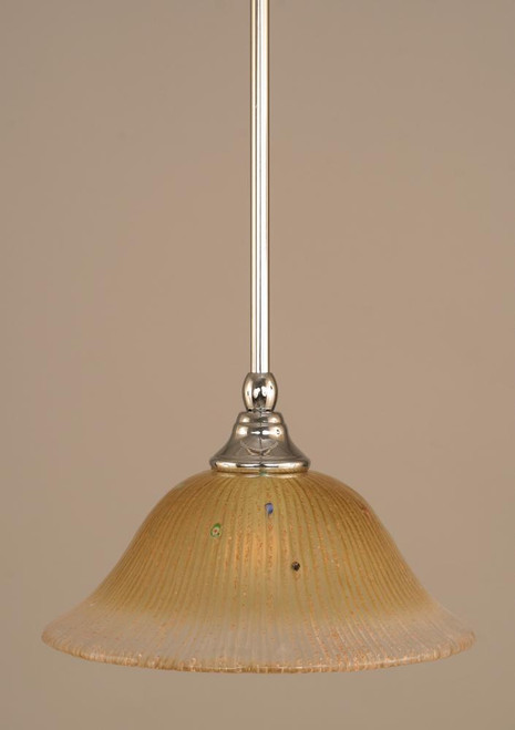 1 Light Amber Mini-Pendant Light-23-CH-730 by Toltec Lighting