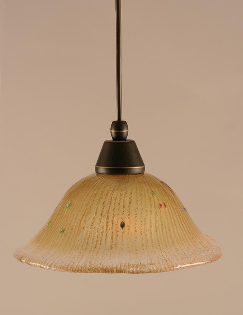 1 Light Amber Mini-Pendant Light-22-DG-730 by Toltec Lighting