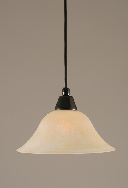 1 Light Amber Mini-Pendant Light-22-BC-513 by Toltec Lighting