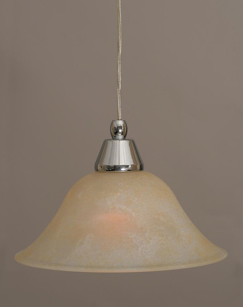 1 Light Amber Mini-Pendant Light-22-CH-513 by Toltec Lighting