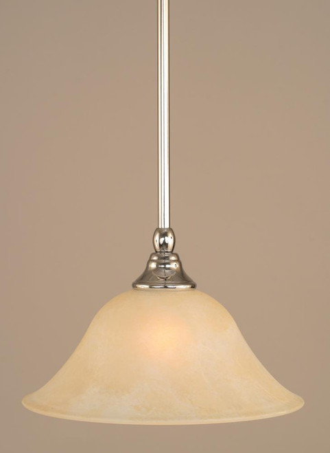 1 Light Amber Mini-Pendant Light-23-CH-513 by Toltec Lighting