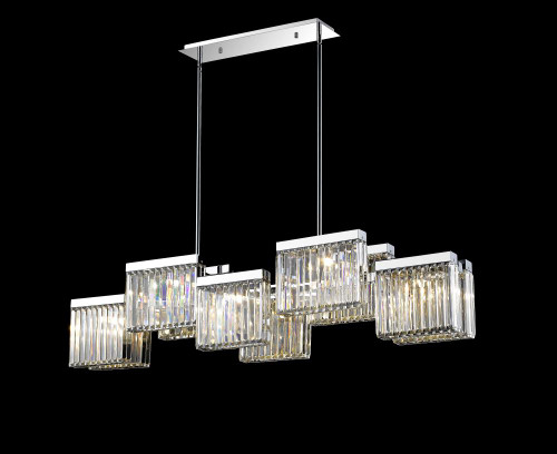 Chandeliers/Linear Suspension By Avenue Lighting BROADWAY Other Chandeliers in Polished Nickel HF4010-PN