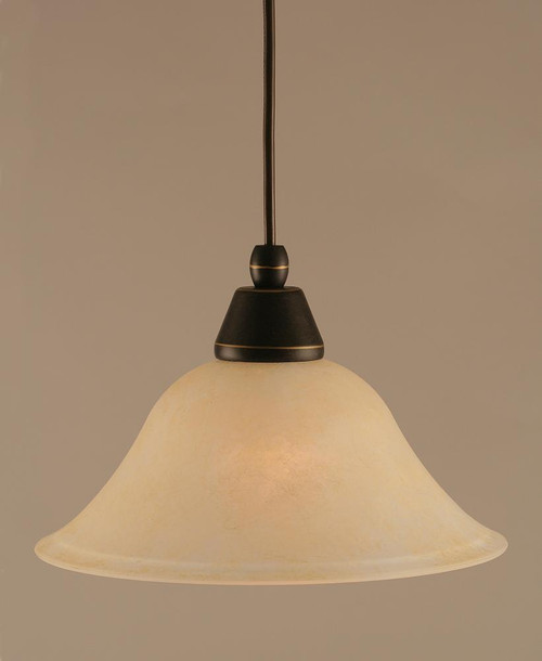 1 Light Amber Mini-Pendant Light-22-DG-513 by Toltec Lighting