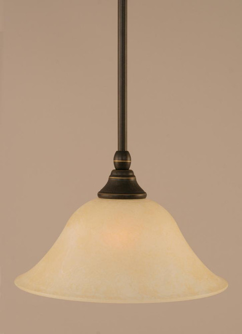 1 Light Amber Mini-Pendant Light-23-DG-513 by Toltec Lighting