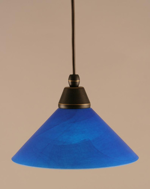 1 Light Blue Mini-Pendant Light-22-DG-435 by Toltec Lighting