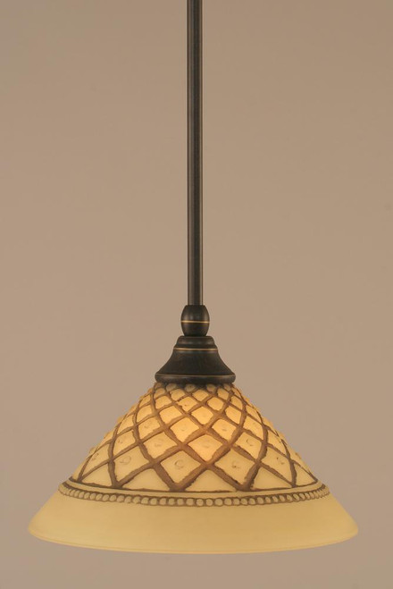 1 Light Brown Mini-Pendant Light-23-DG-7183 by Toltec Lighting