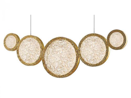 Chandeliers/Linear Suspension By Avenue Lighting BOTTEGA LED Chandeliers in Brass HF5010-PB