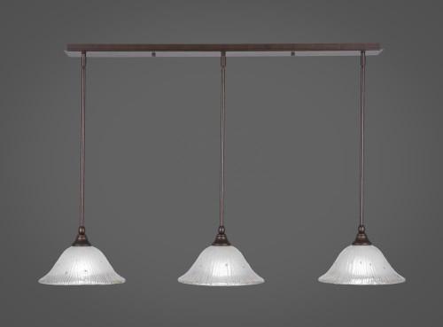 3 Light White Mini-Pendant Light-36-BRZ-731 by Toltec Lighting