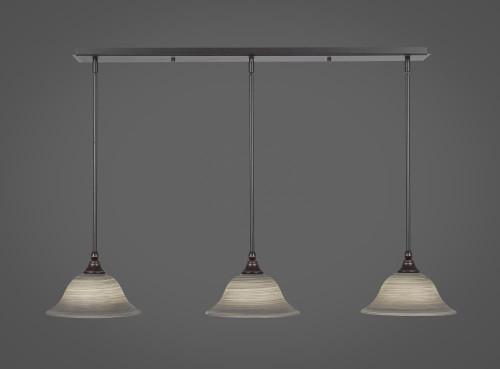 3 Light Gray Mini-Pendant Light-36-DG-603 by Toltec Lighting