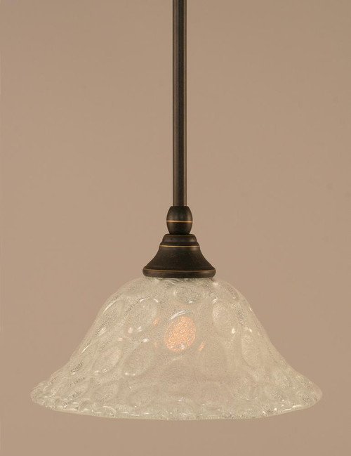 1 Light White Mini-Pendant Light-23-DG-431 by Toltec Lighting