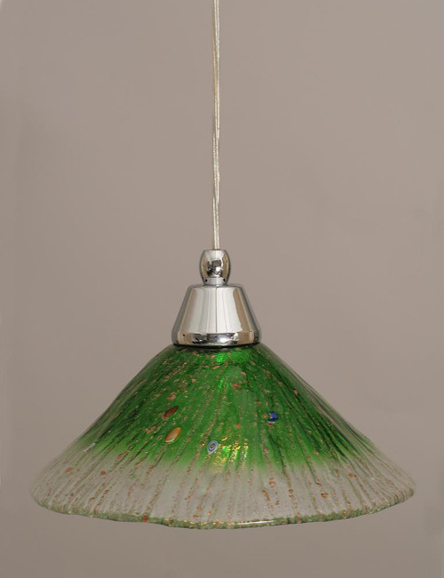 1 Light Green Mini-Pendant Light-22-CH-437 by Toltec Lighting