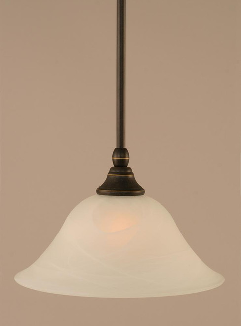 1 Light White Mini-Pendant Light-23-DG-510 by Toltec Lighting