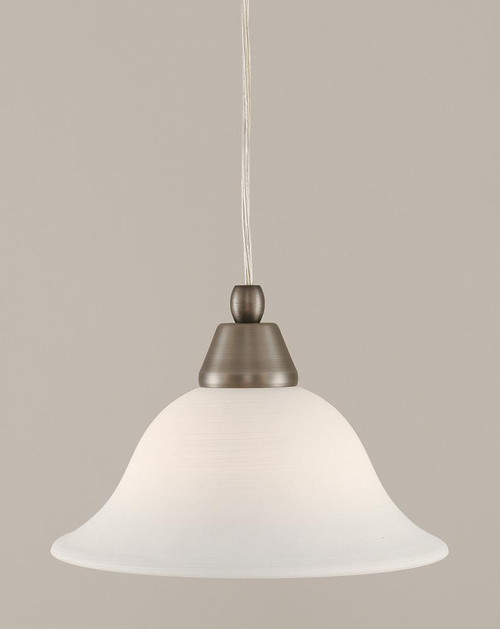 1 Light White Mini-Pendant Light-22-BN-613 by Toltec Lighting