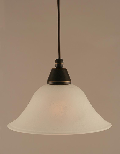 1 Light White Mini-Pendant Light-22-DG-515 by Toltec Lighting