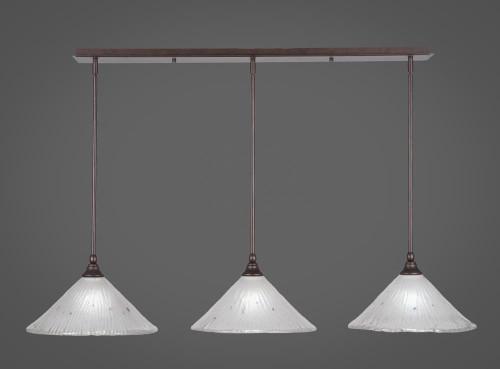 3 Light White Mini-Pendant Light-36-BRZ-701 by Toltec Lighting