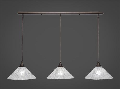 3 Light White Mini-Pendant Light-36-BRZ-709 by Toltec Lighting