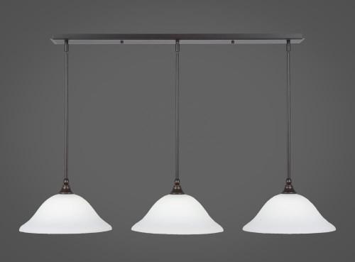 3 Light White Mini-Pendant Light-36-DG-614 by Toltec Lighting