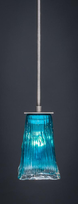 Apollo 4 Light Blue Mini-Pendant Light-573-GP-635 by Toltec Lighting