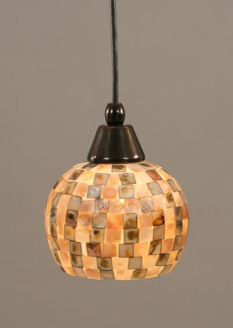 1 Light Beige Mini-Pendant Light-22-BC-407 by Toltec Lighting