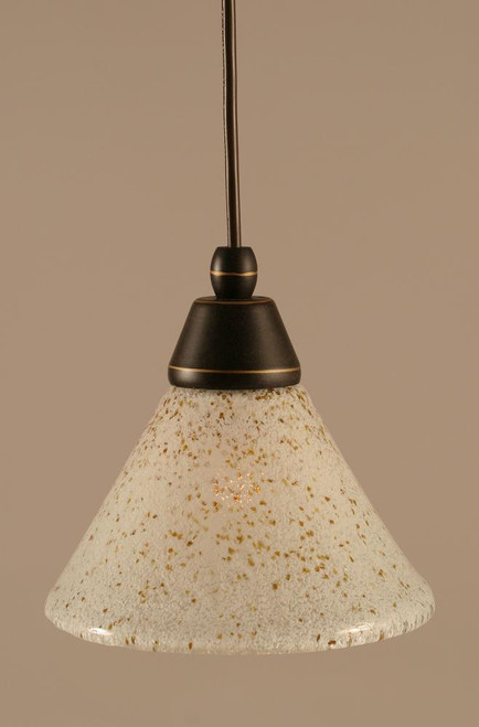 1 Light Gold Mini-Pendant Light-22-DG-7145 by Toltec Lighting