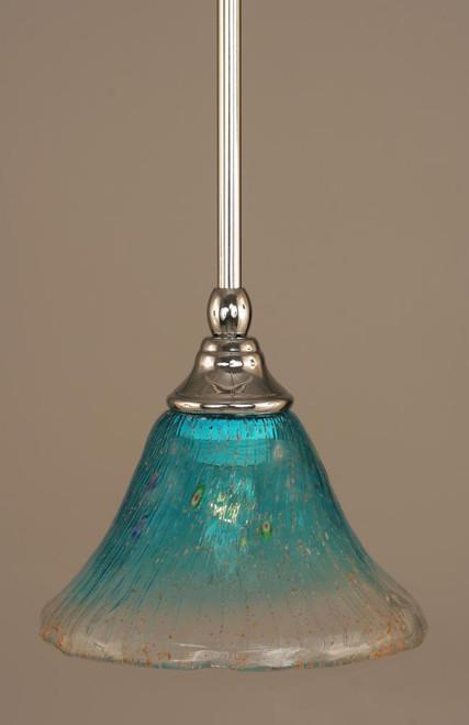 1 Light Blue Mini-Pendant Light-23-CH-458 by Toltec Lighting