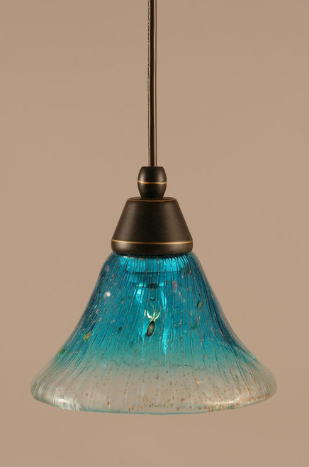 1 Light Blue Mini-Pendant Light-22-DG-458 by Toltec Lighting