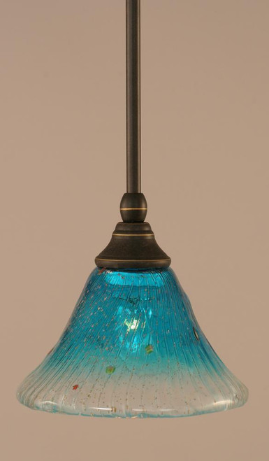 1 Light Blue Mini-Pendant Light-23-DG-458 by Toltec Lighting