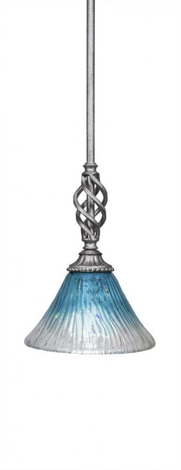 Elegante 1 Light Blue Mini-Pendant Light-80-AS-458 by Toltec Lighting