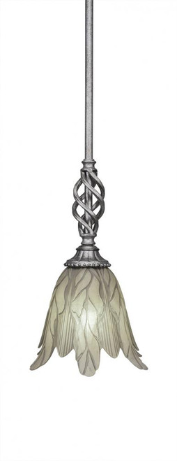 Elegante 1 Light Cream Mini-Pendant Light-80-AS-1025 by Toltec Lighting