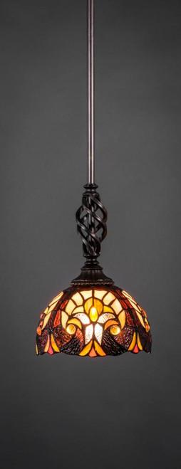 Elegante 1 Light Ivory Mini-Pendant Light-80-DG-9945 by Toltec Lighting