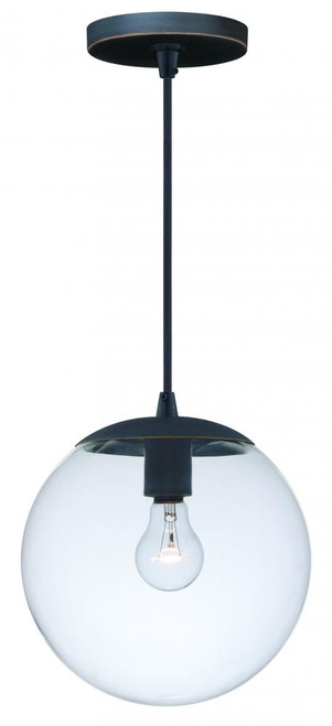 630 Series 1 Light Clear Mini-Pendant Light-P0166 by Vaxcel Lighting