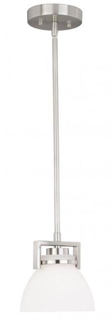 Metropolis 1 Light Alabaster Mini-Pendant Light-P0202 by Vaxcel Lighting
