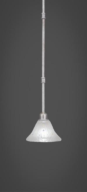 Vintage 1 Light White Mini-Pendant Light-284-AS-751 by Toltec Lighting
