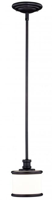 Carlisle 1 Light Opal Mini-Pendant Light-P0231 by Vaxcel Lighting