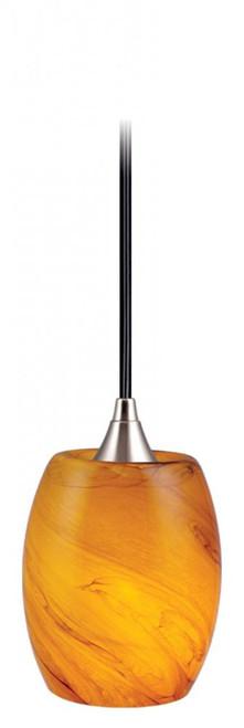 Milano 1 Light Rust Mini-Pendant Light-PD30129SN by Vaxcel Lighting